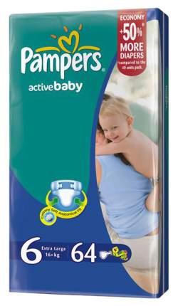 Подгузники Pampers Active Baby-Dry Junior 5 (16+ кг), 64 шт.