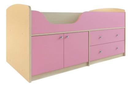 Кровать Сканд Мебель Приют-мини 007 М4 дуб паллада/розовый