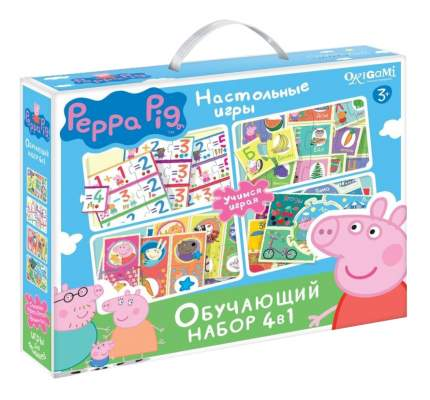 Семейная настольная игра Origami Peppa Pig Обучающий набор 4 в 1