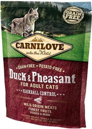 Сухой корм для кошек Carnilove Hairball Control, для выведения шерсти, утка, 0,4кг