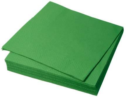 Бумажные салфетки H-Line трехслойные зеленые 24*24 см 250 штук