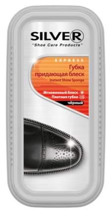 Губка для обуви Silver придающая блеск широкая черная
