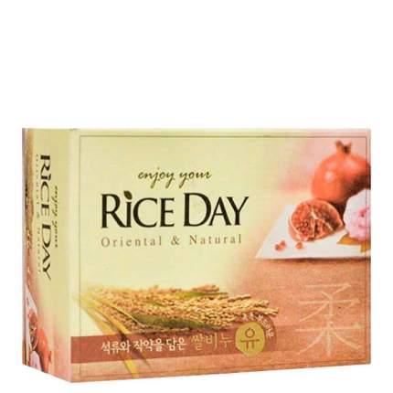 CJ Lion Мыло туалетное Rice Day, экстракт граната и пиона, 100 г,,