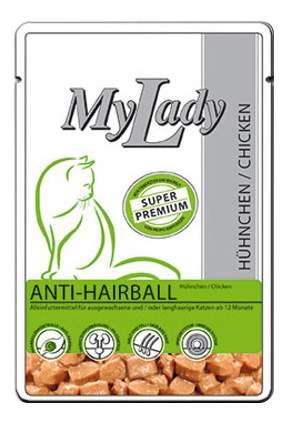 Влажный корм для кошек Dr. Alder'S My Lady Anti-Hairball, с мясом курицы, 85г