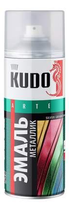 Эмаль универсальная металлик, серебристый кварц KUDO 520 мл