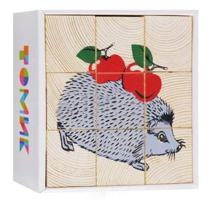 Детские кубики Томик Животные леса
