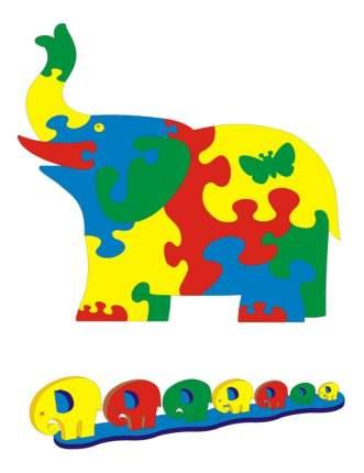 Мягкий коврик-пазл Флексика Слон