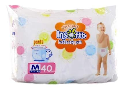 Трусики-подгузники Insoftb, Premium, Ultra-soft, M, (6-11 кг), 40 шт.