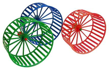 Беговое колесо для грызунов Дарэлл пластик, без подставки, в ассортименте, 14 см