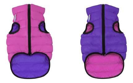 Куртка для собак AiryVest размер S унисекс, розовый, фиолетовый, длина спины 30 см