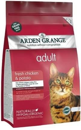 Сухой корм для кошек Arden Grange, беззерновой, курица, картофель, 8кг