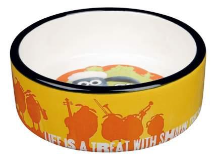 Одинарная миска для собак TRIXIE, керамика, белый, оранжевый, 0.8 л