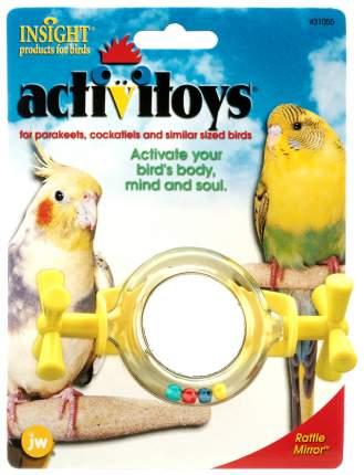 Погремушка для птиц  JW Вращающееся зеркальце, Пластик, 12см
