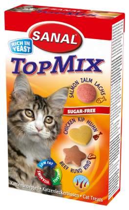 Витамины для кошек Sanal ТопМикс(говядина, курица, лосось) 85таб