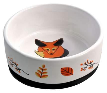 Одинарная миска для кошек и собак Triol, керамика, белый, 0.45 л