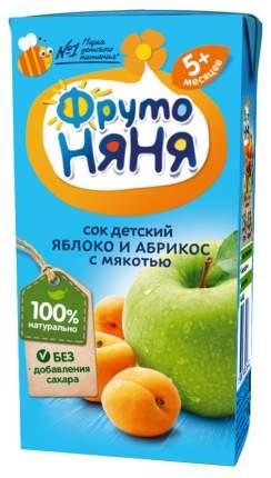 Сок ФрутоНяня Яблоко и абрикос с мякотью с 5 мес 200 мл