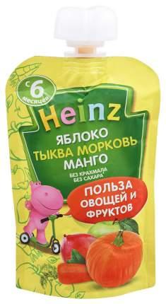 Пюре овощное Heinz Яблоко, тыква, морковь, манго с 6 месяцев 90 гр