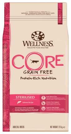 Сухой корм для кошек Wellness Sterilised, беззерновой для стерилизованных, лосось, 1,75кг