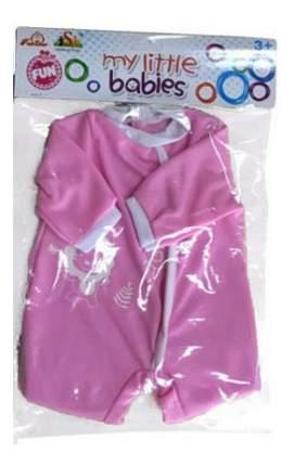 Летняя одежда для куклы Shantou Gepai Боди кроха розовое