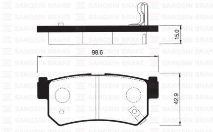Колодки тормозные SANGSIN SP1151