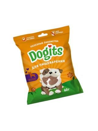 Лакомство для собак Dogits Для пищеварения, кусочки, индейка, 60г