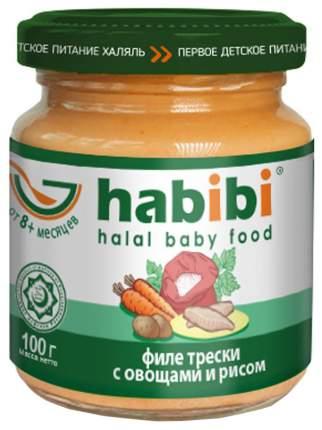 Пюре Habibi Филе трески с овощами и рисом с 8 мес. 100 г