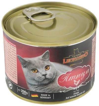 Консервы для кошек Leonardo Quality Selection, домашняя птица, 200г