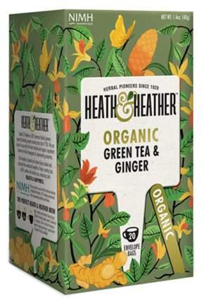 Чай зеленый Heath&Heather с имбирем органик 20 пакетиков