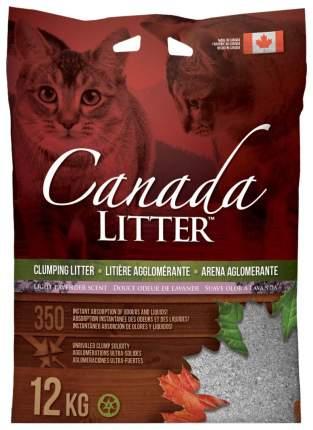 Комкующийся наполнитель для кошек Canada Litter Запах на замке бентонитовый, лаванда, 12кг
