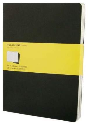 Набор 3 блокнота Moleskine Cahier Journal XL, цвет черный, в клетку