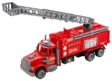 Спецтехника Наша Игрушка Пожарная с телескопической вышкой красная 328-38