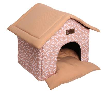 Домик-лежак для кошек и собак ЗООГУРМАН Ампир, бежевый, 950г, 45х40х45 см