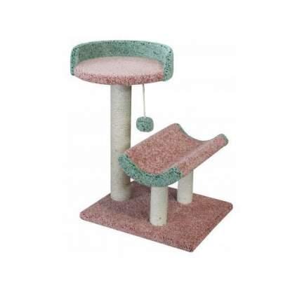 Комплекс для кошек Пушок Кука, розовый с зеленым, 60 х 40 х 75 см