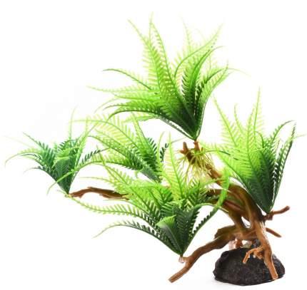 Декорация для аквариума Fauna International Растение на коряге №13, 30х11х23 см