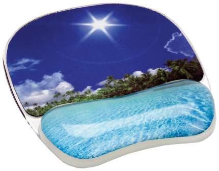 """Коврик для компьютерной мыши с гелевой подкладкой для руки """"Тропический пляж"""""""