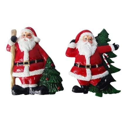 Магнит Дед Мороз с елкой 7 см Е94575