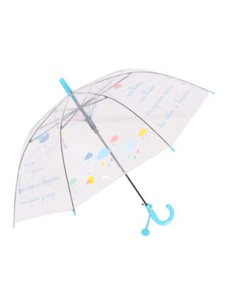 Зонт-трость МихиМихи Облака прозрачный купол, голубой
