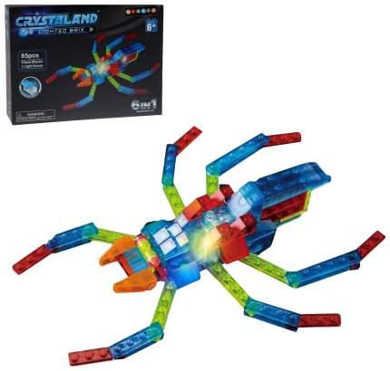 Светящийся конструктор Crystaland «Паук», 6 в 1, 98 деталей Sima-Land