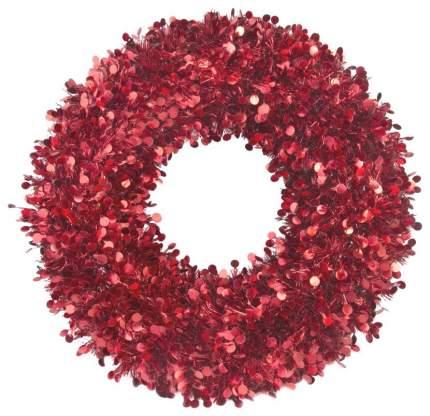Венок новогодний Феникс Present Большой с красными кругами 78837