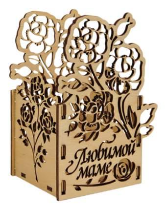 "Подарочная коробка ""Любимой маме"", 12x9,1x8 см"