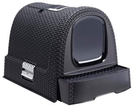 Туалет для кошек Curver PetLife, прямоугольный, черный, 51х39х40 см