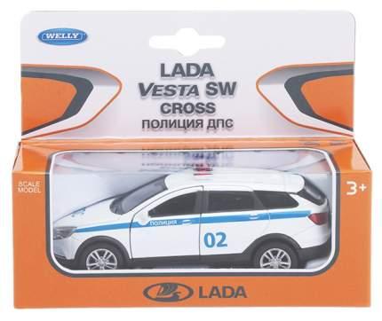 Welly 43763PB Велли Модель машины 1:34-39 LADA VESTA SW CROSS Полиция ДПС