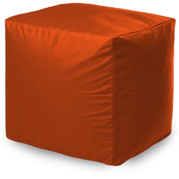 Пуф бескаркасный ПуффБери Квадратный Оксфорд, размер S, оксфорд, оранжевый