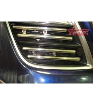 Декоративные элементы противотуманных фар d16, Mazda CX-7 2010 чёрная 4 шт.
