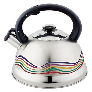 Чайник для плиты WEBBER ВЕ-0552, нержавейка, 3л,  меняет цвет(12)