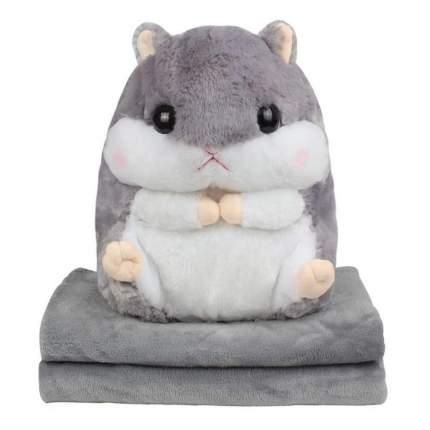 Мягкая игрушка Нинбо Хомяк 3 в 1 серый