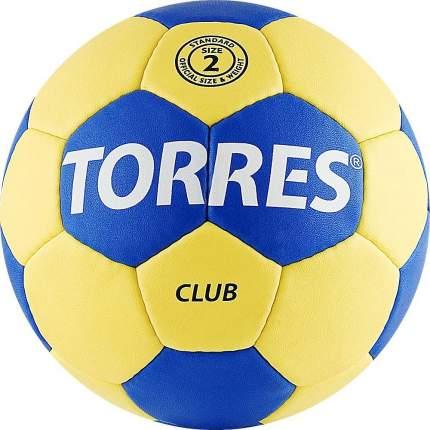 Мяч гандбольный Torres Club SS19, 2, желтый/синий