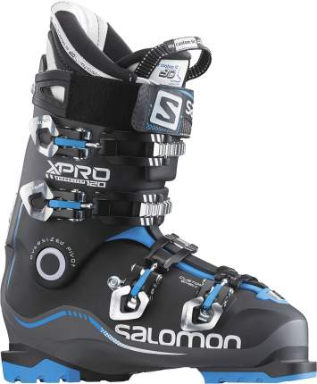 Горнолыжные ботинки Salomon X Pro 120 2016, anthracite/black/blue, 28.0