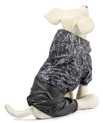 Костюм-дождевик для собак Triol Дождик, черный, XL