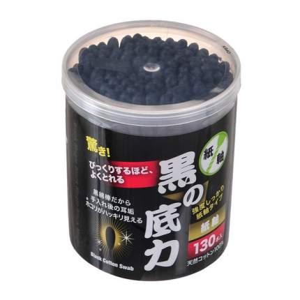 Ватные палочки Can Do черные большие, 130 шт
